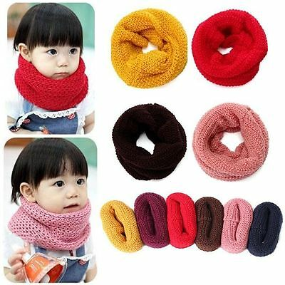 Children Winter Warm Collar Knitted Neckerchief Baby Scarf Neck Bib
