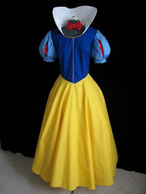New Adult Disney Snow White Dress Gown Costume Size 10