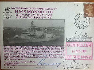 HMS MONMOUTH  F235 Commissioning 1993 - Multi Signed Hockaday Series FDC