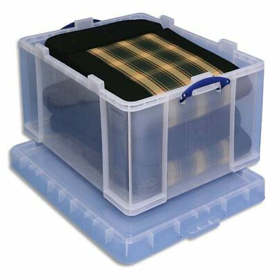 Really Useful Box Aufbewahrungsbox 145 Liter, transparent