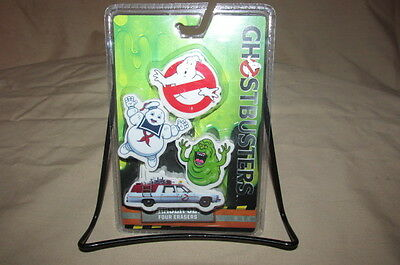 Ghostbusters Eraser Set Collectible 4 Pack Slimer, Stay Puft, Ecto 1, Ghost New