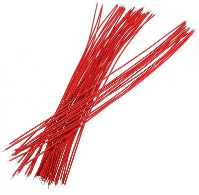 4 X 50Pcs Red Two Ends With Tin-plated 20cm Breadboard Jump Cable