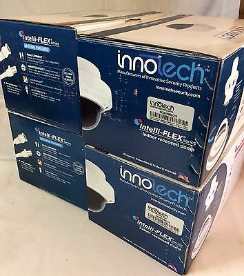 New Lot of (4) Innotech #EXCA233BNCCD Indoor Vandal Dome Security System Cameras