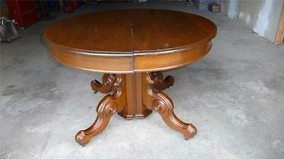 Victorian Solid Walnut Dining Room Table