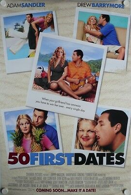 50 First Dates Original Movie Poster DS US 27x40/41 Peter Segal Adam Sandler EU