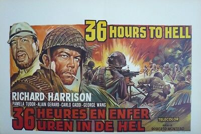 36 Ore All'Inferno, 36 Hours To Hell Original Movie Poster SS Belgium Belgian WD