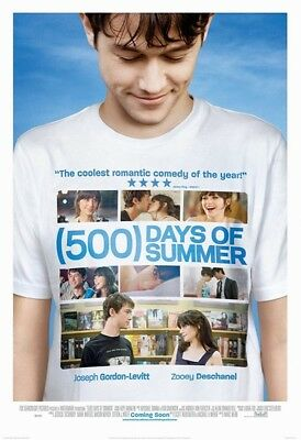 500 Days of Summer Original Movie Poster DS US 27x40/41 Webb Zooey Deschanel WD