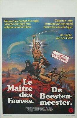 Beastmaster Original Movie Poster Belgium Belgian Don A. Coscarelli fantasy WD