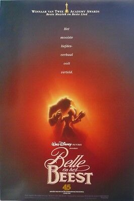 Beauty and the Beast Original Movie Poster Belgium Belgian Disney Belle A WD