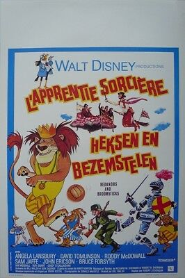 Bedknobs and Broomsticks Original Movie Poster SS Belgium Belgian Disney B WD
