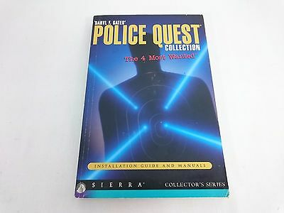 PC - Police Quest Collection The 4 Most Wanted Guide and Manual - SIERRA