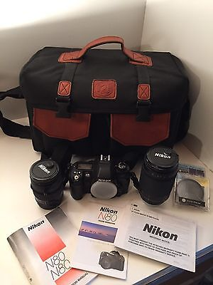 Nikon N80 Camera with 28-80mm and 70-300m Lenses