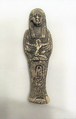 Ancient Egyptian Artifact USHABTI with Isis and Cartouche