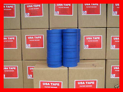 "48 Rolls 1"" X60 Yrd Blue Painters Masking Tape MADE IN USA QUICK SHIP! FAMOUS"