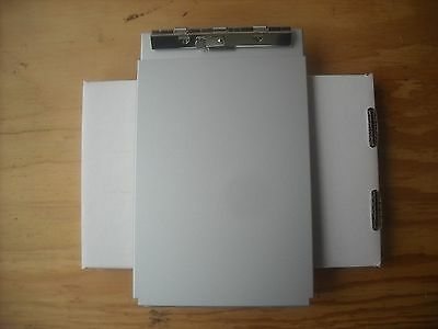 """Saunders 10007 5.67"""" x 9.5"""" Aluminum Top Opening A-Holder Compartment Clipboard"""