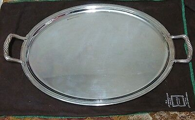 Authentic Christofle France Silver Large Serving Tray Used Free Shipping!