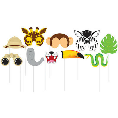 Jungle Animals Photo Booth Props Zoo Safari Party Decorations Supplies
