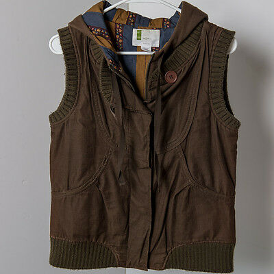Women's Urban Outfitters Brown Corduroy Hooded Vest Size S