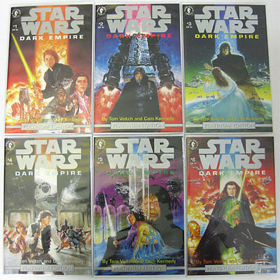 Star Wars Dark Empire **RARE** PLATINUM EDITION 6 Comic Set w/COA Dark Horse