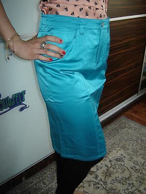 Bebe Pencil Casual Satin Stretch Skirt Size 4, S