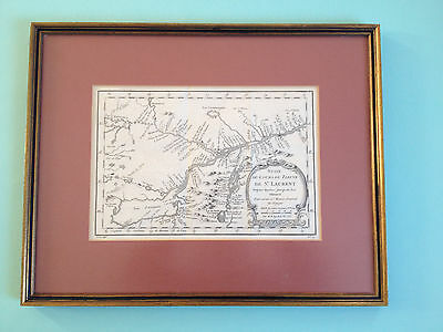 Original 1757 Engraved Map,Charts, St. Lawrence, Ontario, Quebec, Lake George