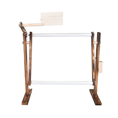 Needlework Stand Lap Wood Table Embroidery Hoop Frame Cross Stitch Sewing Tool J