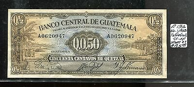 GUATEMALA P-13a, 1933  1/2 Quetzal or 50 Centavos banknote in VF-XF, Scarce