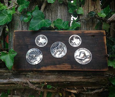 Western Collection 90% Silver Repousse Coins -- pop punched out coin