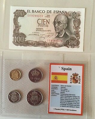 Spain. Coin And Note Set UNC