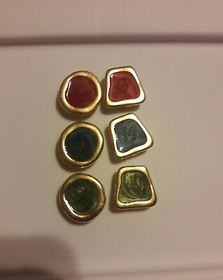 Beautiful button covers  set of 6