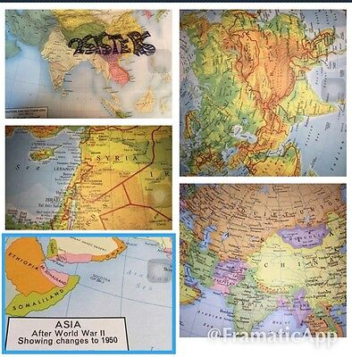 Asia Lots Of Antique Maps Political Physical Empires Really Must Read Details