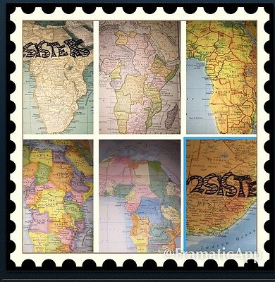Africa Antique About 10 Maps 1908-37-67 South Political 1800 Independence Must C