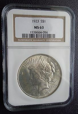 1923 Peace Silver Dollar - MS63 by NGC - great looking coin!