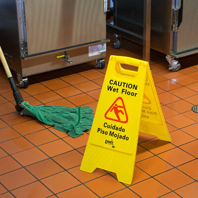 4-Pack NEW Restaurant Unbranded/Generic Caution Wet Floor Yellow Signs