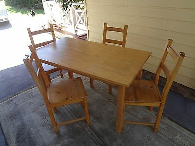 Ikea Norden Compact Wooden Table and Chairs
