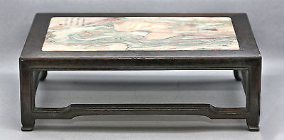 Magnificent Rare Antique Chinese Huanghuali Wood & Marble Stand Circa 1820s