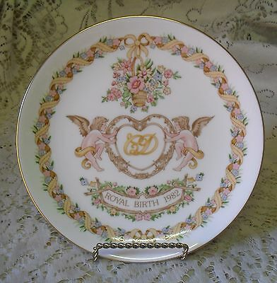 Wedgwood Commemorative Royal Birth 1982 Prince William Plate Made In England