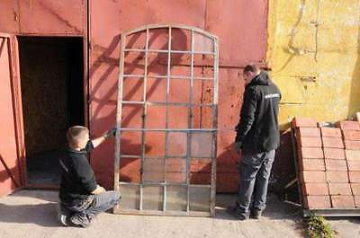 Huge Vintage Iron Industrial Metal Window Frame