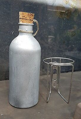 Vintage Style Bicycle Water Bottle And Cage  Free Postage Australia
