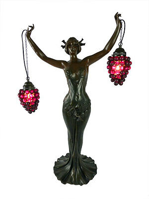 Shiraz Grape Lady Table Lamp Light  - Will Ship Australia Wide