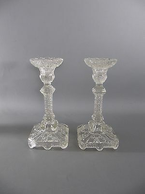 2 antike Pressglas Leuchter - antique glass chandelier