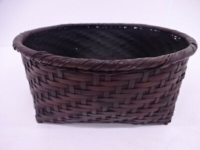41950# Japanese Tea Ceremony / Sumitori (Charcoal Basket) / Woven Bamboo