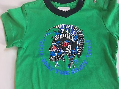 Baby Diesel Green Short Sleeve T-Shirt 6 Months New With Tag