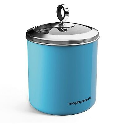 Accents 1.7L Large Blue Kitchen Storage Canister Tea Sugar Coffee Food Container