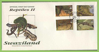 Swaziland 1996 Reptiles set on First Day Cover