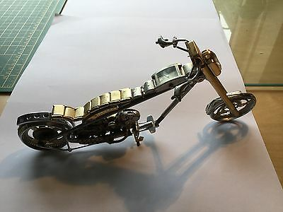 Motorcycle / Chopper - Made from Watch Parts