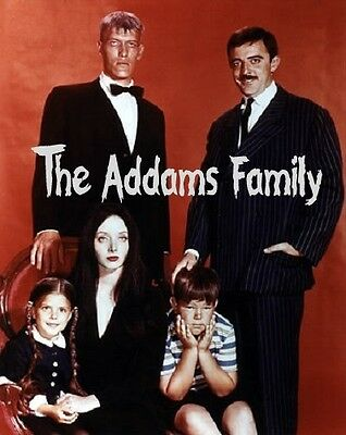 1960s The Addams Family TV show cast and logo fridge magnet - new!