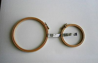 "Elbesee Wooden Embroidery Cross Stitch Ring Hoop - 4"" or 6"""