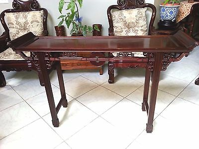 Nice  Chinese Solid Rosewood Altar or Console Table Scroll design