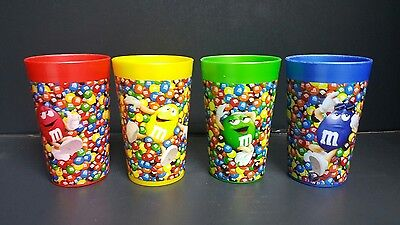 Plastic M&M Cups Set of 4 Red, Yellow, Green and Blue